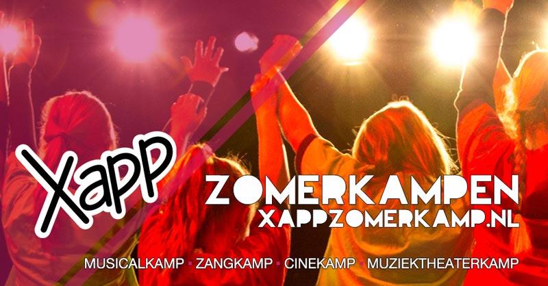 Xapp zomerkampenmusicalkamp zangkamp cinekamp filmkamp muziektheaterkamp